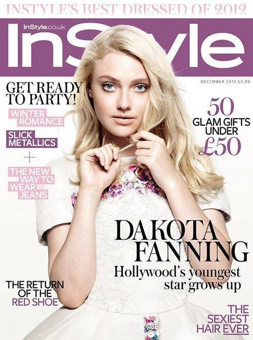 Dakota Fanning InStyle UK Cover