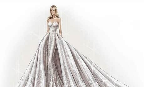 Zuhair Murad Sketches Sofia Vergara Wedding Gown