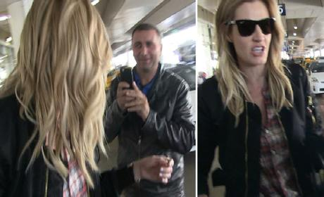 Erin Andrews SHUTS DOWN Taxi Driver Trying to Film Her!