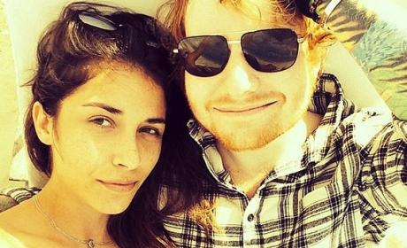 Ed Sheeran and Athina Andrelos