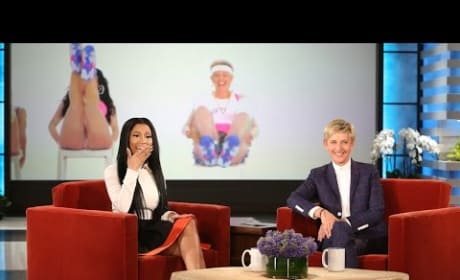 "Nicki Minaj Reacts to Ellen's ""Anaconda"" Video"