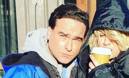 Kaley Cuoco & Johnny Galecki: Caught Kissing on New Year's?!