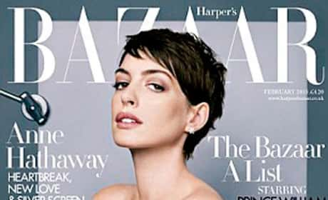 Anne Hathaway Harper's Cover