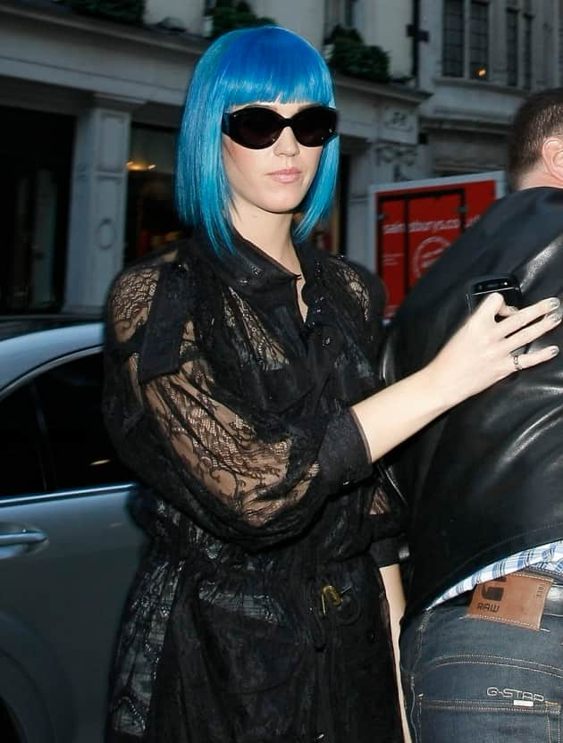 Katy Perry With Blue Hair