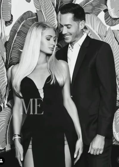 Carter Reum and Paris Hilton