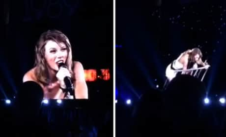 Taylor Swift: Trapped on Elevated Platform in Concert!