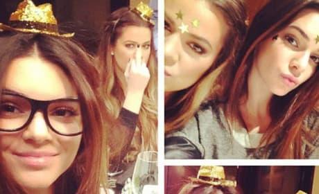 Khloe Kardashian with a Mustache