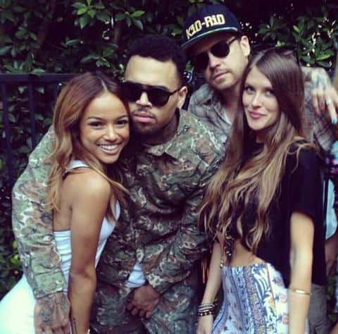 Chris Brown and Kae