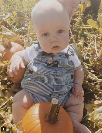 Baby and Baby Pumpkin