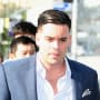 Mark Salling on Way to Court
