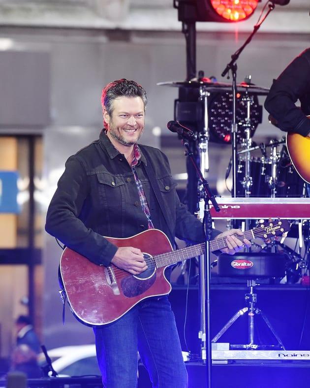 Blake Shelton with a Guitar
