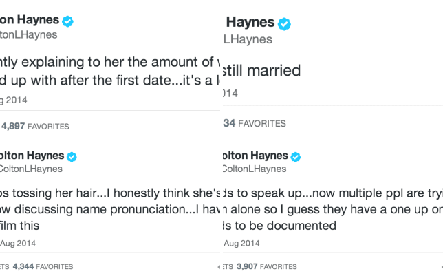 Colton haynes documents a first date you know i get around