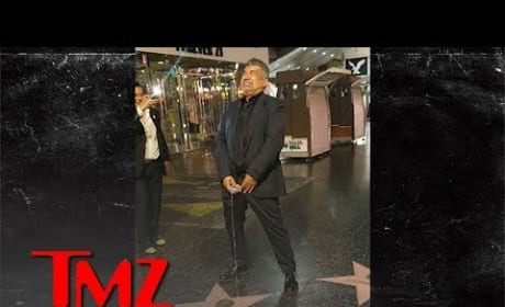 "George Lopez ""Pees"" on Donald Trump's Star"