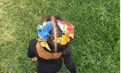 North West Brings Back the Butterfly Clip