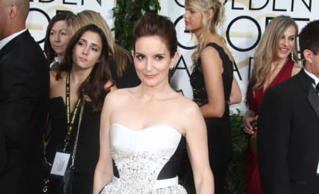Tina Fey at the Golden Globes