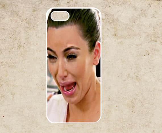 Kim Kardashian Cry Face Phone Cover