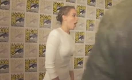 Jennifer Lawrence and Jeff Bridges at Comic-Con