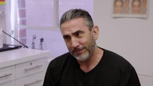 Dr. David Saadat tells Angela Deem that her surgery is postponed
