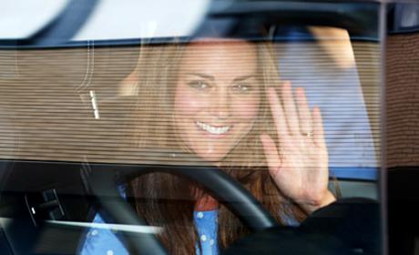 Kate Middleton Waves Goodbye