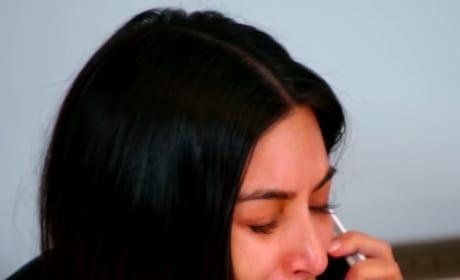 Kim Kardashian Cries Hard