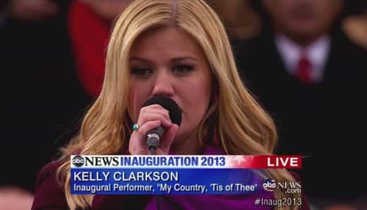 Kelly Clarkson Inauguration Performance