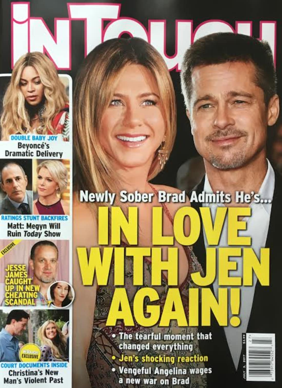 Brad Pitt and Jennifer Aniston are in active correspondence