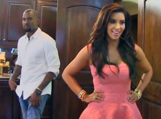 Kanye West i Kim Kardashian sex video brunetka okulary Sex oralny