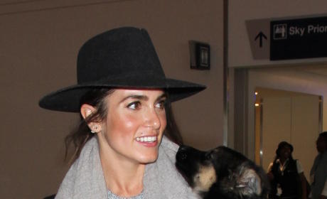 Nikki Reed And Her Puppy at LAX