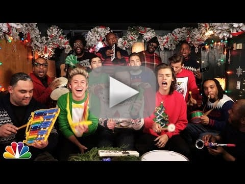 Jimmy Fallon Christmas Sweaters.One Direction Jimmy Fallon The Roots Perform Santa Claus
