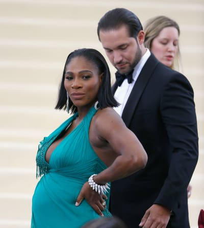 Serena Wiliams and Alexis Ohanian at 2017 MET Gala