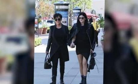 Kylie Jenner Holds Hands with Kris Jenner