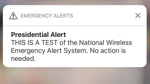 Here is the alert