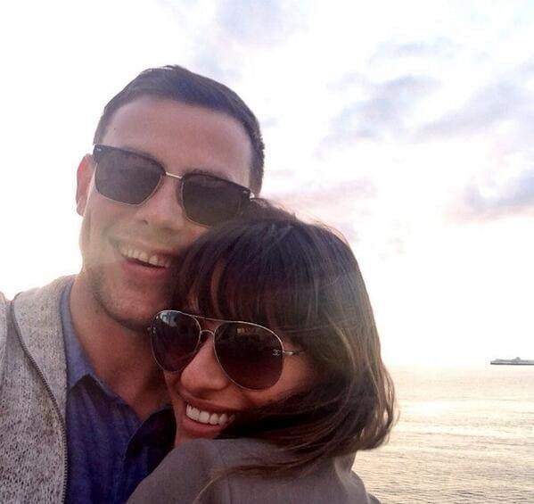 Lea Michele and Cory Monteith Twit Pic