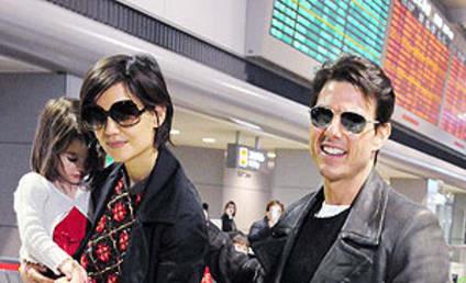 Suri Cruise, Associates Arrive in Japan