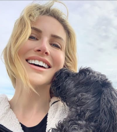 Stephanie Pratt and Her Dog