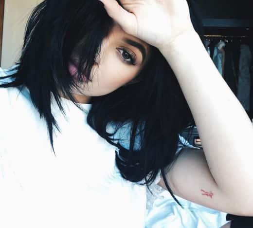Kylie Jenner Script Tattoo