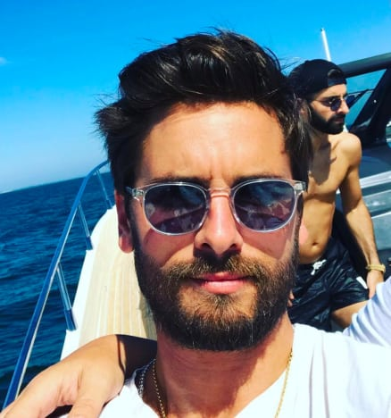 Scott Disick is on a Boat