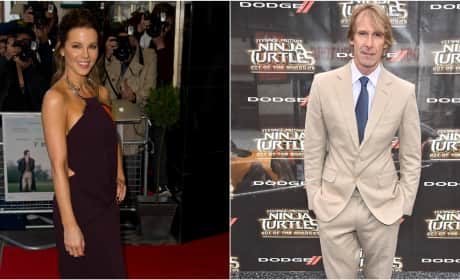 Kate Beckinsale and Michael Bay