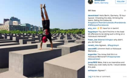 CrossFit Coach Apologizes for Doing Handstand on Holocaust Memorial