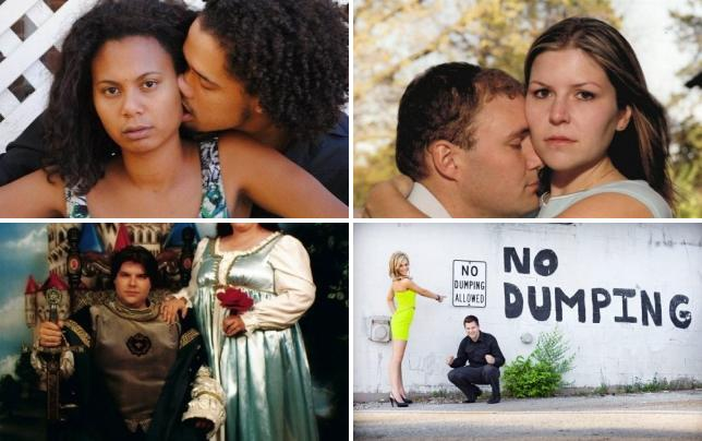 13 hilariously awful engagement photos a happy couple