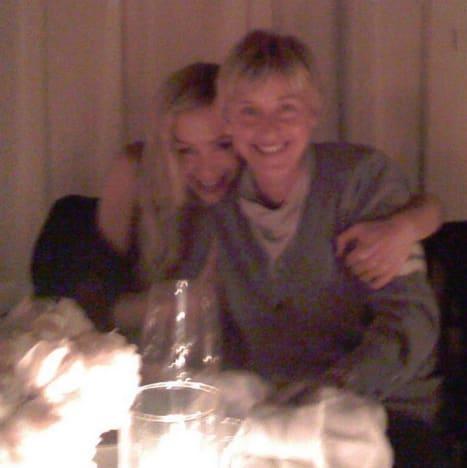 Ellen DeGeneres and Portia de Rossi, 9 Years Ago