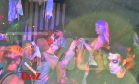 Adam Lambert Passes Joint to Miley Cyrus