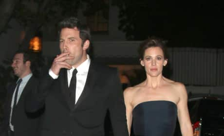 Ben Affleck and Jennifer Garner: Smoking!