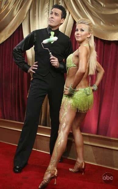 Julianne Hough and Adam Carolla