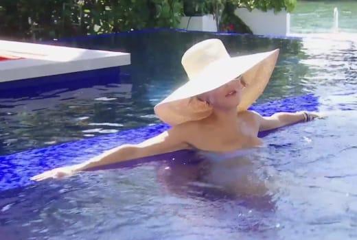 Bethenny Frankel in a Miami Pool