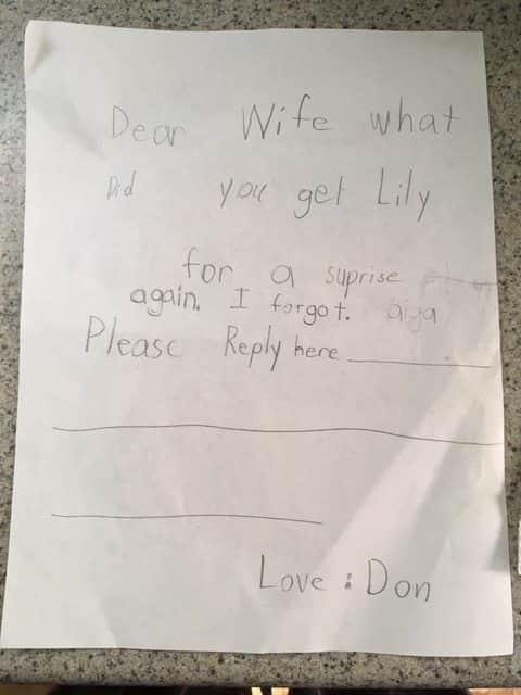 Adorable Toddler Note