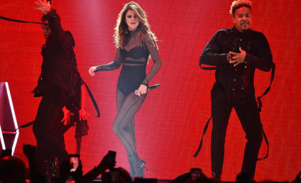 Selena Gomez Takes a Tumble in Concert