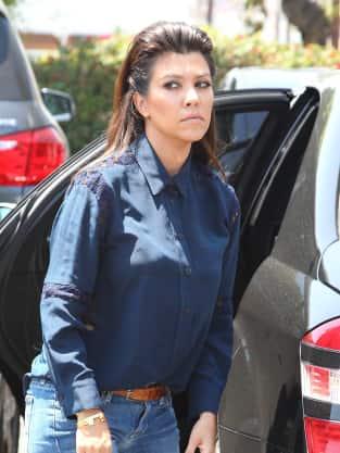 Kourtney Kardashian in Jeans