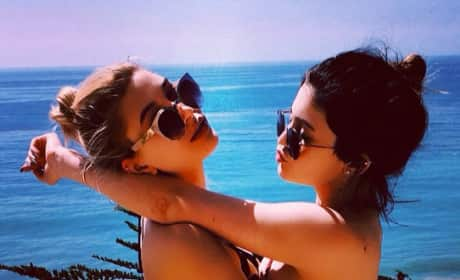 Kylie Jenner and Hailey Baldwin