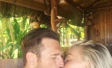 Julianne Hough and Brooks Laich Kiss on Their Honeymoon